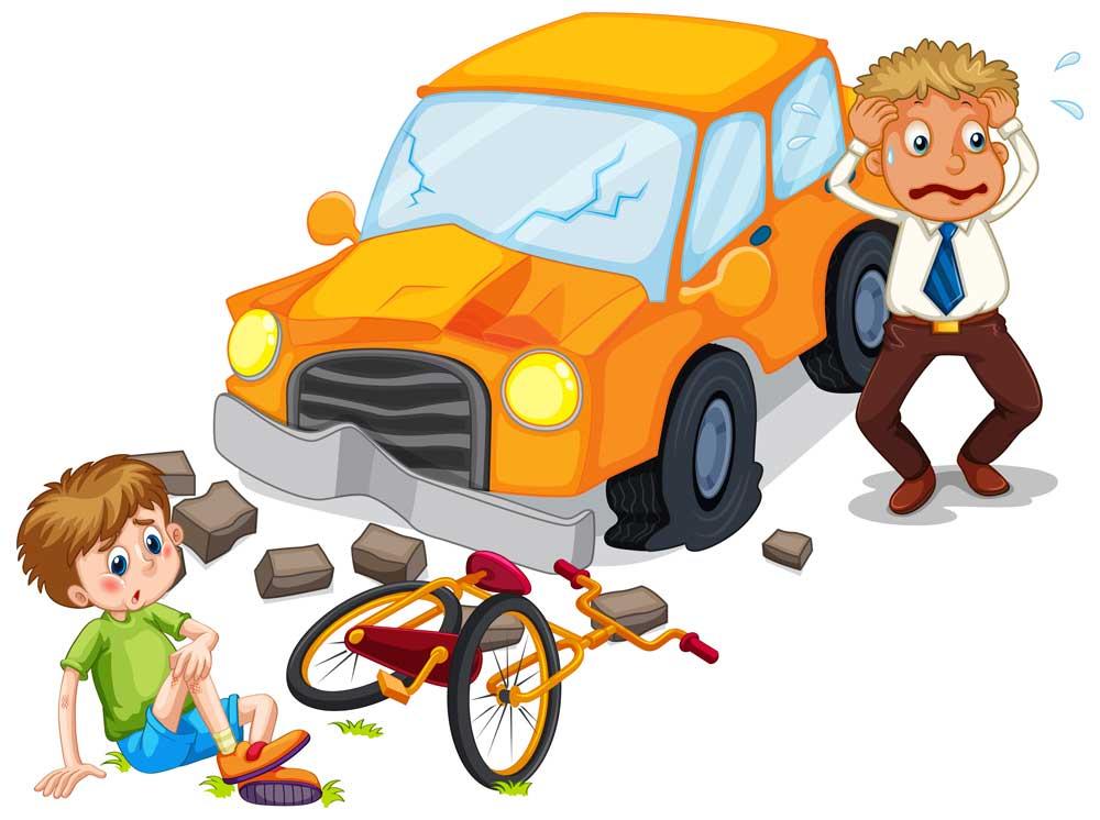 کاریکاتور تصادف رانندگی