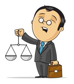 مشاور حقوقی کارتون