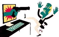 ایکون تهدید دختران در فضای مجازی