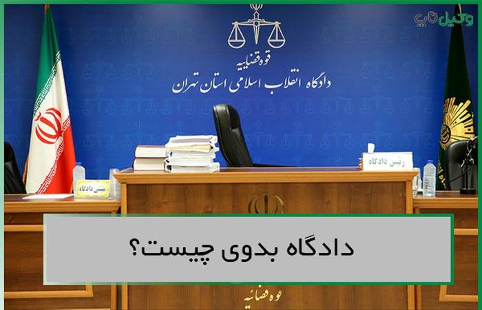 دادگاه بدوی چیست
