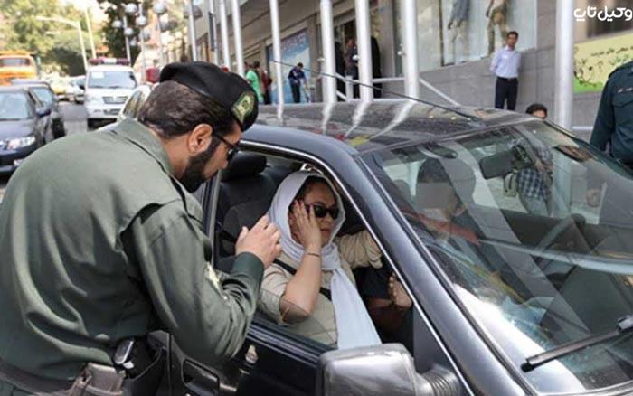 کشف حجاب در خودرو