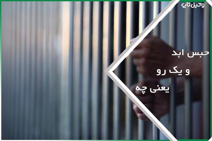حبس ابد و یک رو یعنی چه